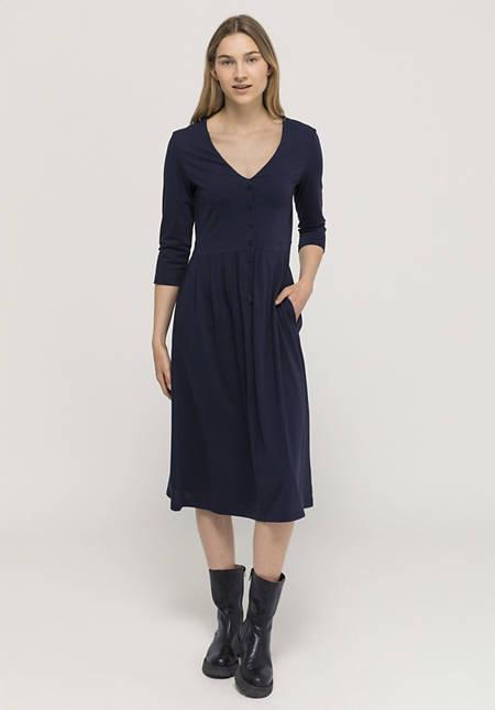 Jerseykleid aus reiner Pima-Bio-Baumwolle