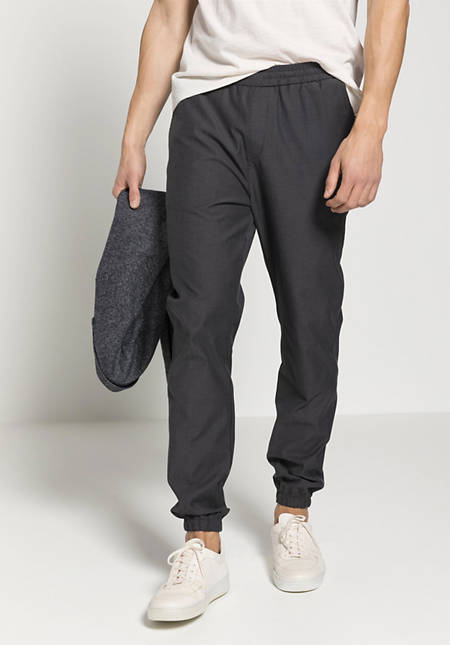 Joggpant-Hose aus Bio-Merinowolle mit Bio-Baumwolle