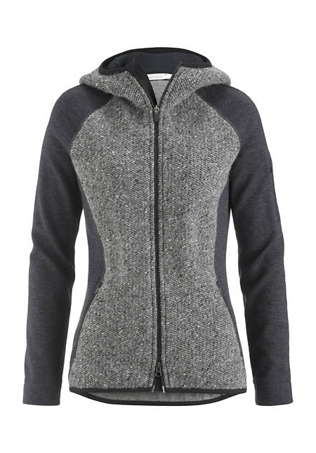 Kapuzen-Jacke aus Schurwolle mit Bio-Baumwolle