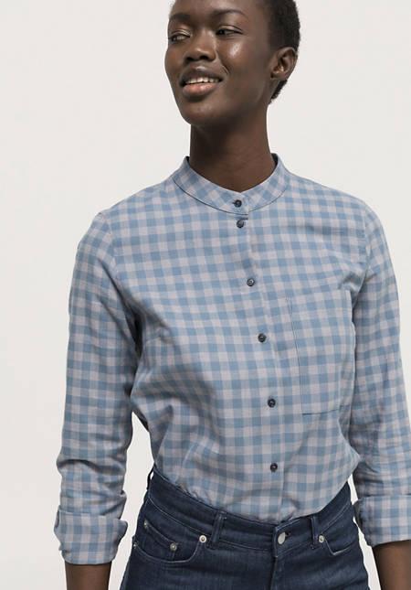 Karo-Bluse aus reiner Bio-Baumwolle