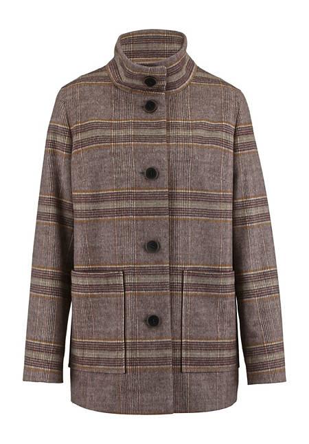 Karo-Jacke aus reiner Schurwolle