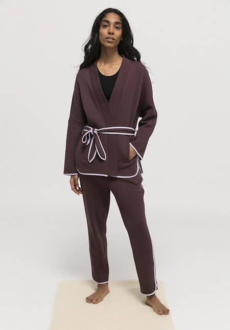 Kimono jacket made from pure organic cotton