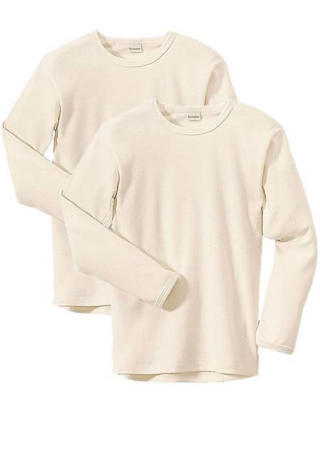 Kinder Langarm-Hemd im 2er-Set aus reiner Bio-Baumwolle
