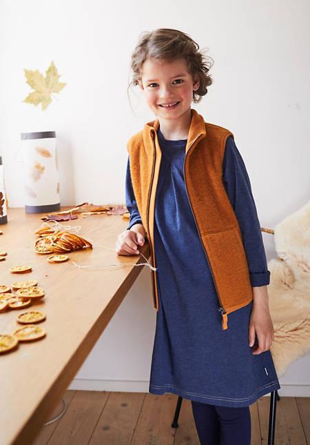 Kinder Wollfleece-Weste aus reiner Bio-Merinowolle