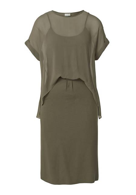 Kleid im Materialmix Seide, Modal und Bio-Baumwolle
