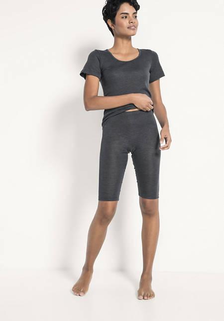 Knielange Leggings PureWOMAN aus Bio-Merinowolle mit Seide