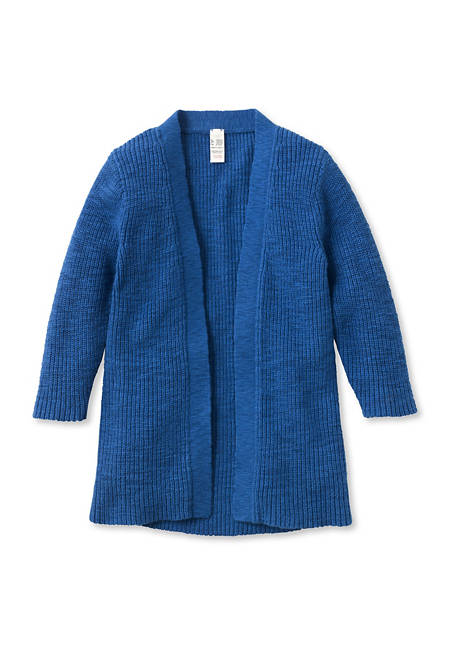 Knitted cardigan made from pure organic cotton