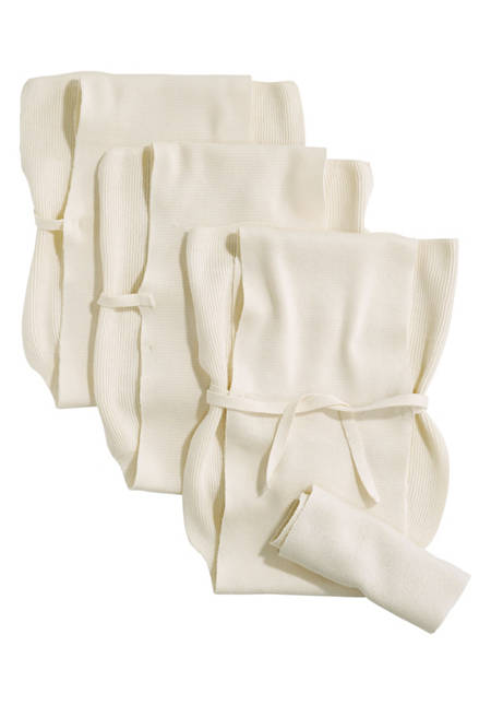 Knitted diaper in a 3-pack made of pure organic cotton