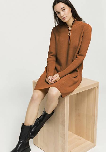 Knitted dress made of organic cotton and organic merino wool