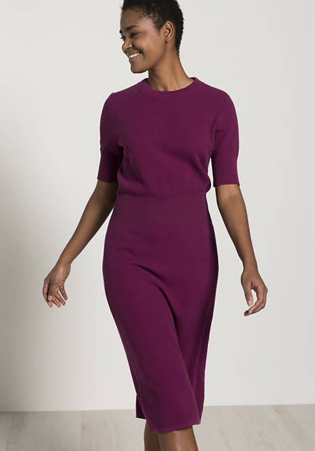 Knitted dress made of pure organic cotton