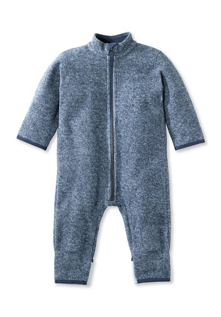 Knitted fleece overall made of pure organic cotton
