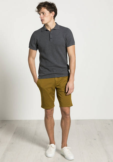 Knitted polo made from pure organic cotton