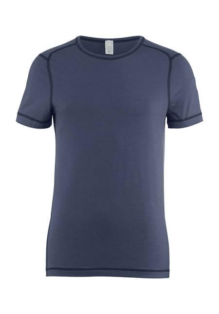 Kurzarm-Shirt aus Bio-Merinowolle
