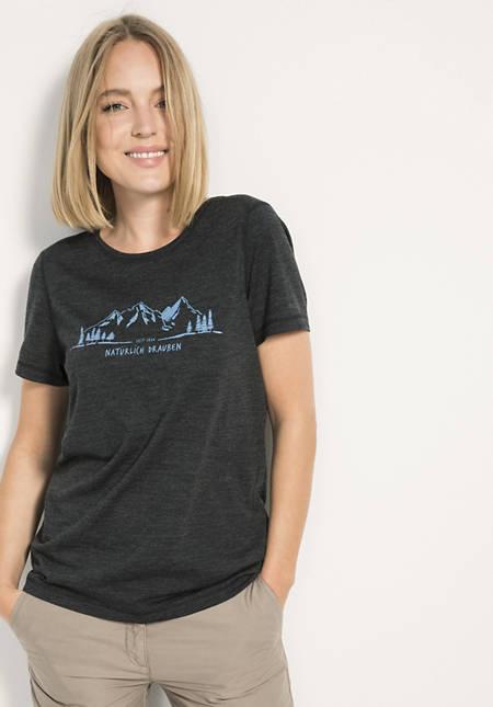 Kurzarm-Shirt für Sie aus reiner Merinowolle