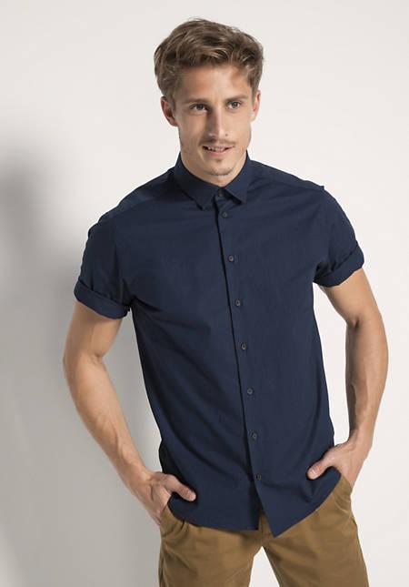 Kurzarmhemd Comfort Fit aus Bio-Baumwolle mit Elasthan