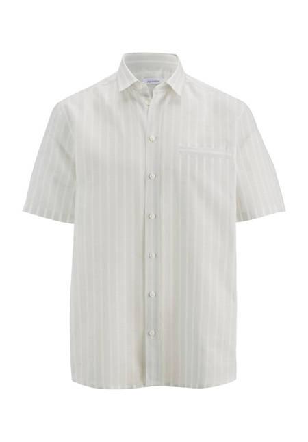 Kurzarmhemd Comfort Fit aus Bio-Baumwolle und Leinen