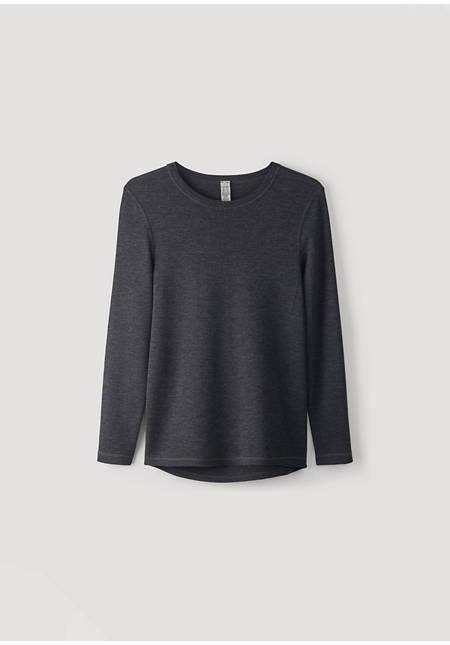 Langarm-Shirt PureMIX aus Bio-Merinowolle mit Seide