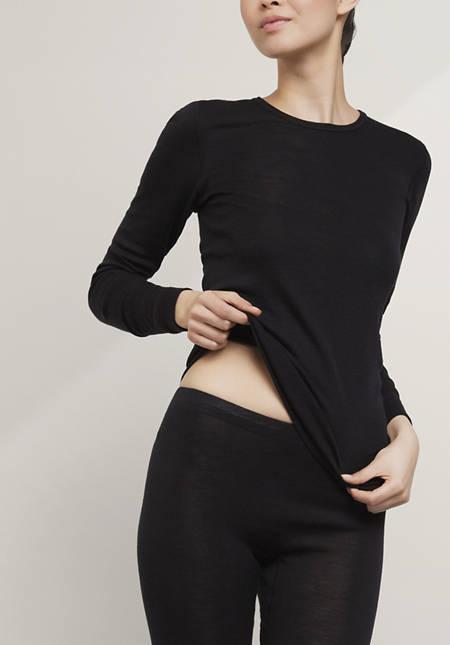 Langarm-Shirt PureMIX aus Bio-Schurwolle mit Seide