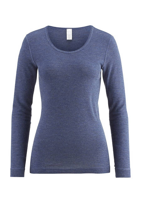 Langarm-Shirt PureWOOL aus reiner Bio-Merinowolle