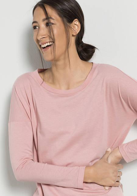 Langarm-Shirt aus Bio-Baumwolle mit Schurwolle