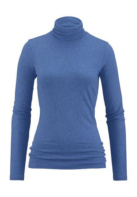 Langarm-Shirt aus Modal mit Schurwolle