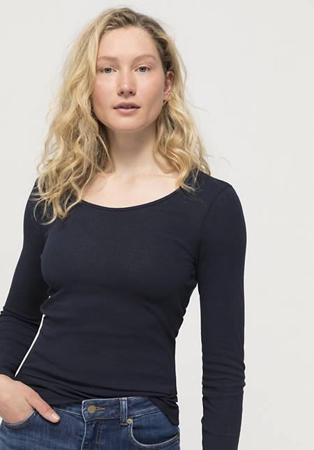 Langarm-Shirt aus reiner Bio-Baumwolle