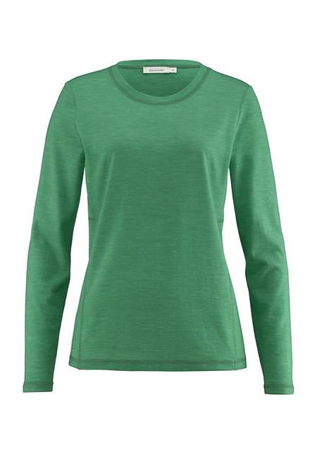 Langarm-Shirt für Sie aus reiner Merinowolle