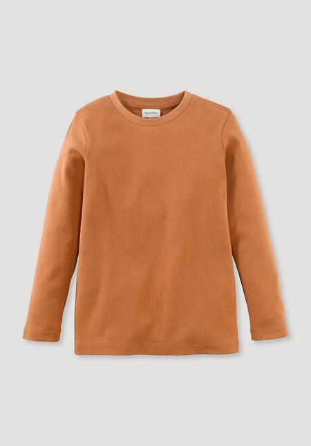 Langarmshirt aus reiner Bio-Baumwolle
