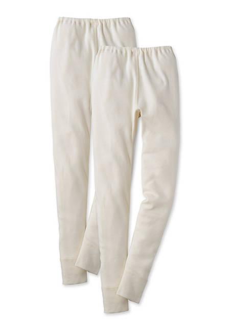 Lange Unterhose 2er-Set aus reiner Bio-Baumwolle