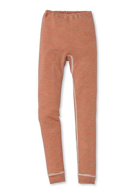 Lange Unterhose aus Schurwolle mit Seide
