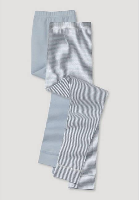 Lange Unterhose im 2er-Set aus reiner Bio-Baumwolle