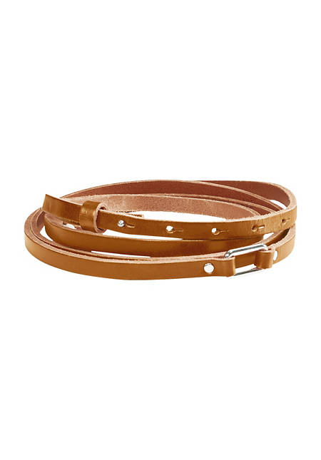 Leather belt for winding