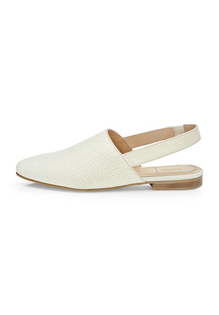Leather sling-mules