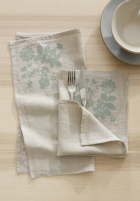 Leila napkin in a set of 2 made of pure linen