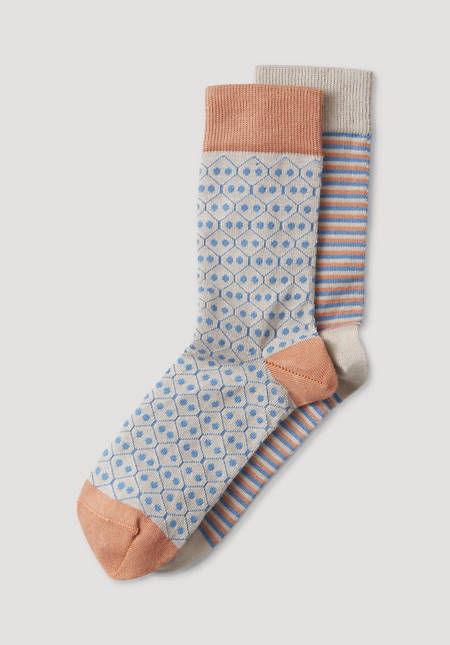 Leisure socks made of organic cotton in a 2-pack