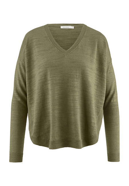 Linen sweater with organic cotton