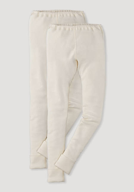 Long johns set of 2 made of pure organic cotton