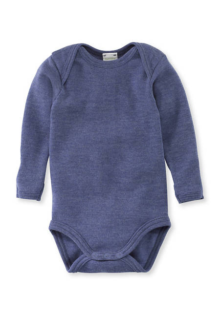 Long-sleeved body made from pure organic merino wool