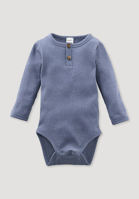 Long-sleeved body made of organic cotton with organic merino wool