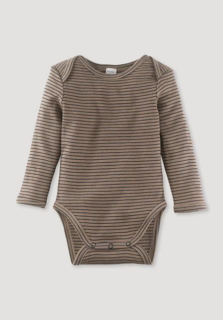 Long-sleeved body made of organic merino wool and silk