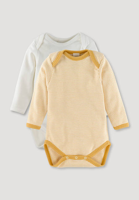 Long-sleeved body set of 2 made of pure organic cotton