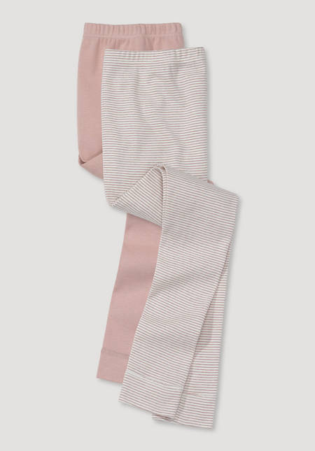 Long underpants in a set of 2 made of pure organic cotton
