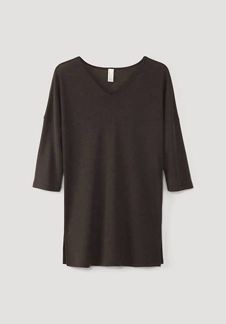 Longshirt aus reiner Bio-Merinowolle