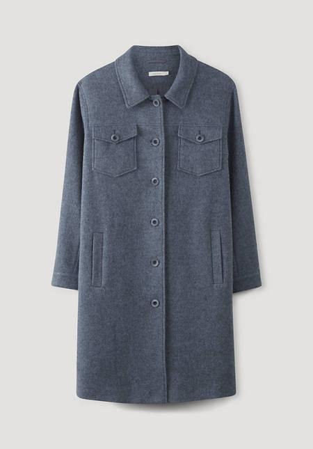 Mantel aus Alpaka und Schurwolle
