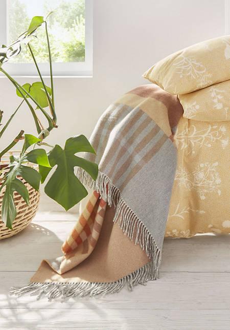 Merino plaid Anni made of pure merino wool