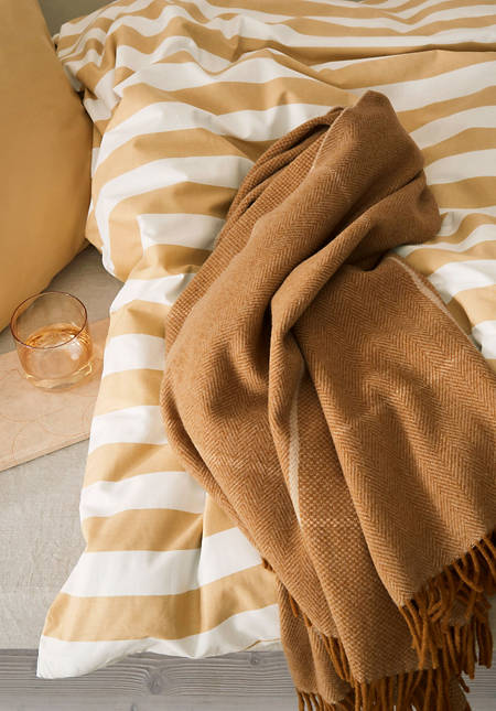 Merino plaid Quadro made of pure merino wool