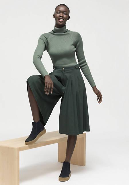 Midi-Hosenrock aus reiner Bio-Baumwolle