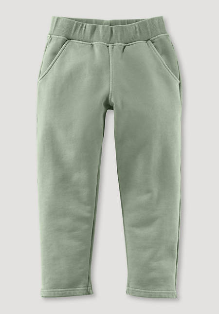 Mineral-dyed sweatpants made of pure organic cotton