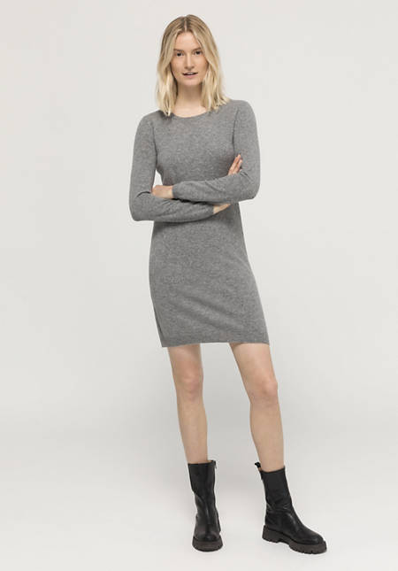 Mini dress made of new wool with cashmere