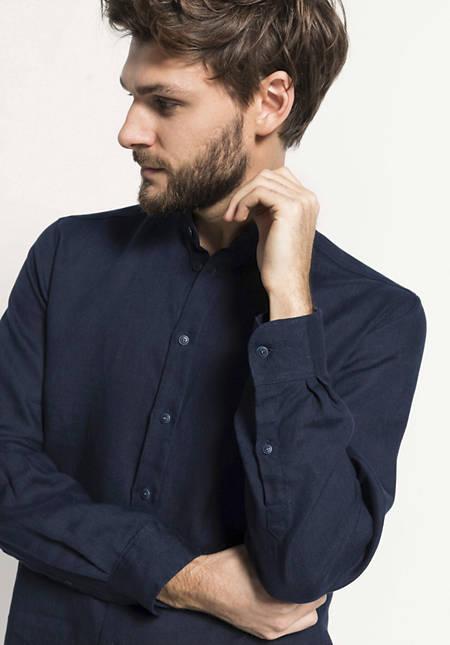 Modern Fit shirt made from pure organic linen